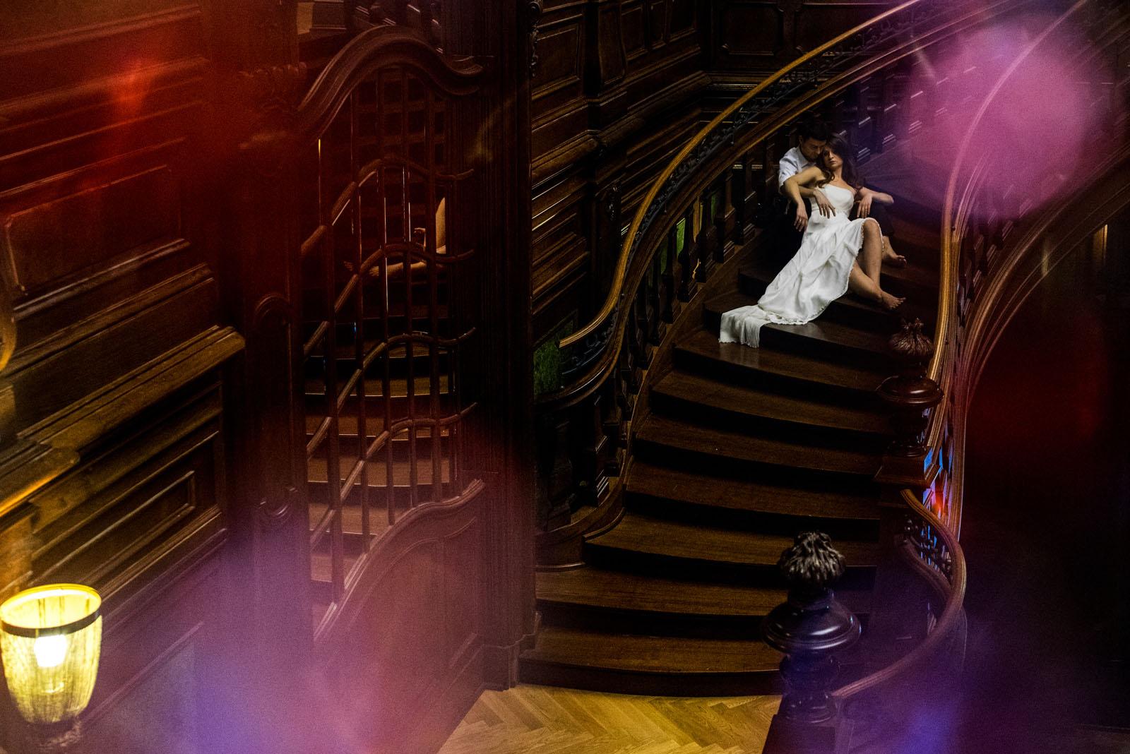 zabytkowe schody w pałacu Goetz'ów